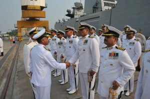 Rear_Admiral_SV_Bhokare_interacting_with_Commanding_Officers_of_Eastern_Fleet_Ships_after_taking_over_as_Flag_Officer_Commanding_Eastern_Fleet_on_06_Oct_15