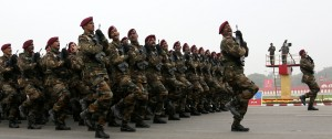 10-PARA Marching Contingent during Army Day Parade