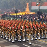 The BSF marching contingents passes through the Rajpath, on the occasion of the 67th Republic Day Parade 2016, in New Delhi on January 26, 2016.