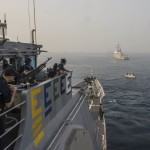 USS Antietam anchors near USS McCampbell at IFR ; Pictures Courtesy US Navy