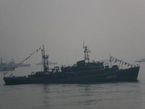 Russian ship in friendly waters