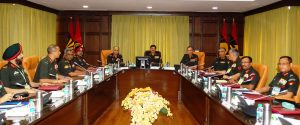 COAS WITH THE ARMY COMMANDERS AND STAFF OFFICERS